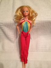 Vintage 1966 Mattel Barbie Doll With Colorful Jump Suit