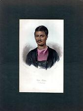 ANTIQUE ETHNIC PRINT - RAM RUTTUM, A BRAHMIN - INDIA  - JAMES PRICHARD (1842)
