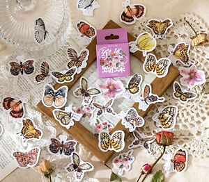 BUTTERFLY STICKERS Insect Garden Scrapbook Journal Diary Card Craft Decoration