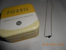 FOSSIL BLUE/DIAMANTE PENDANT NECKLACE IN A FOSSIL GIFT BOX+PACKAGING+A GIFT BAG