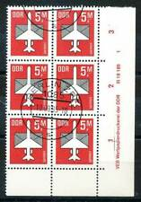 614388) DDR ER 6erBlock Nr.2967 gest. mit Druckvermerk Flugpost