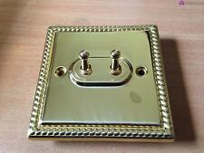 Gregoriano estilo interruptor de palanca con placa de latón