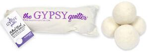 Gypsy Quilter Fieltrado Lana Secadora Bolas 4 Paquete