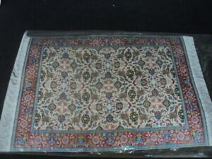 DOLLHOUSE RUG- WOVEN RUG- RED/BLUE/GREEN