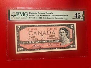 1954 CANADA $2 G.K.BOUEY L.RASMINSKY PMG 45 EPQ