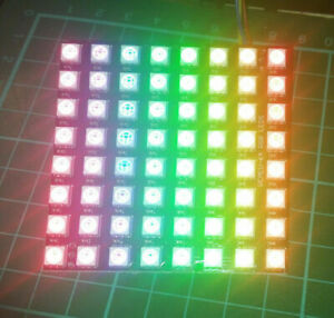 8x8 64-LED 5050 WS2812 RGB Matrix Display for Neopixel Arduino Raspberry Pi