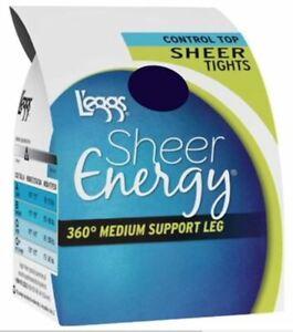 NIB L'eggs Control Top WMNS Sheer Energy 360 Degree Medium Support Leg (U Pick 1
