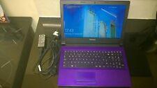 purple windows10 lenovo led laptop ideapad 305-15iby quad core ssd wifi 8gb ddr3