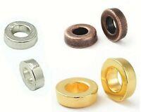 40 Metallperlen 6mm Spacer Ring Rondell Schmuck Zwischenteile Gold Silber Wählen