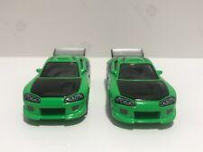 Mattel Fast & Furious x2 1:55 #FF011 Brian's '96 Mitsubishi Eclipse Hot Wheels
