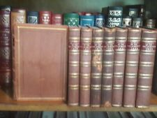 THE INSTITUTE OF BANKERS 8 VOLUMES FULL LEATHER 1915,16,17,19,20,21,22,23