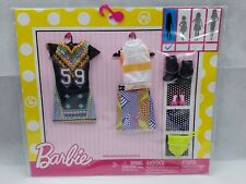 Barbie Fashion Clothing 7 Piece Set Outfits and Accessories New In Package