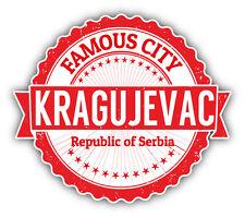 """Kragujevac City Serbia Grunge Travel Stamp Car Bumper Sticker Decal 5"""" x 4"""""""