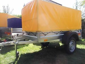 CAR CAMPING BOX TRAILER 6.8FT X 3.8FT + TOP COVER 80CM 750KG