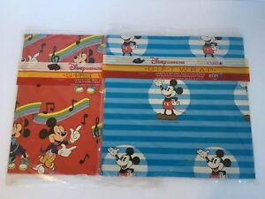 Lot Of Two Packages NOS Cleo Gift Wrap Disney Mickey And Minnie Mouse Vintage