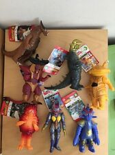 Lot Kaiju Figures w Original Tags Ultraman Bandai Garamon, Gomora, Black King