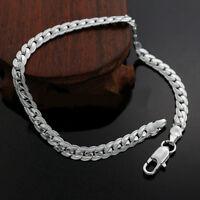 """Bracelet argent mailles """"Snake Inscribed"""" - 5 mm - Envoi de France immédiat"""