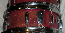 Vintage 1968 PEARL Red Sparkle SNARE DRUM w/ Reinforcement rims