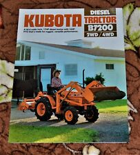 VTG Advertising 1984 Kubota Diesel Tractor B7200 2WD 4WD Brochure