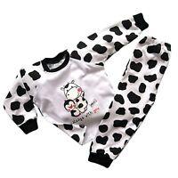 Baby Girls BLACK & WHITE Pyjamas 100% COTTON  12-18 Months -  2-3 Years