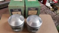 NOS Triumph 650 TWIN STD Genuine BARE PISTONS IN  original boxes E-9488 70-9488