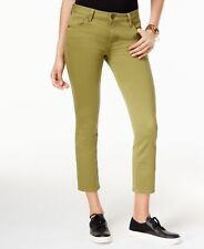 NEW (MY8298-45) Kut from the Kloth Straight Ankle Jeans Olive Sz 8 $79