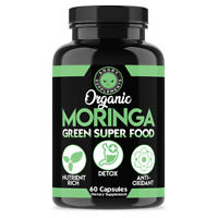 Angry Supplements Organic Moringa Natural Green Superfood 100% Pure Leaf Powder