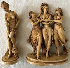 The Three Graces Statue Sculpture Figurine Greek Goddess Ladies & Helen Of Troy