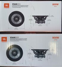 "2 JBL STAGE 810 1PR. 8"" Single 4 Ohm Subwoofers 8-inch Woofers 1600 Watts MAX"
