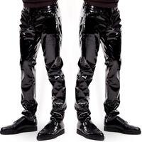 US Newest Mens's Trousers Zipper Patent Leather Pants PVC Club Clubwear