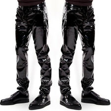 1dd8df2b US Newest Mens's Trousers Zipper Patent Leather Pants PVC Club Clubwear