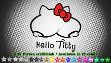Hello Titty Aufkleber Sticker JDM EDM Funny Tuning Styling 11cm x 10cm