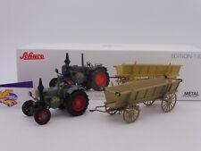 Schuco 07702 # Lanz Bulldog Traktor Baujahr 1945 mit Leiterwagen 1:32 NEU !!