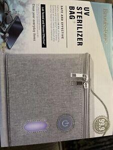 Brookstone UV Sterilizer Bag+ (Grey)