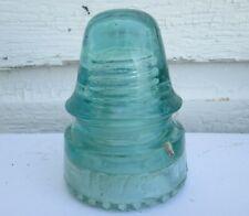 CD 162.4  Aqua 1678 Canadian Antique Glass Telegraph Insulator Junk In Glass