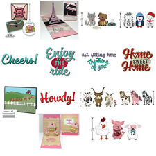 Animals Words Fence Metal Cutting Dies for DIY Scrapbooking Paper Cards Crafts