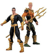 Aquaman VS Black Adam Injustice 2 Pack Mini Action Figure Set by DC Collectibles