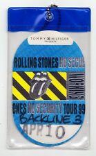 Rolling Stones No Security Backstage Pass - 1999 Tour OK City 4/10/1999