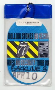 Rolling Stones No Security Backstage Pass - 1999 Tour OK City 4/10/1999