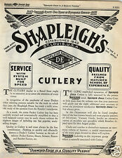1935 PAPER AD 36 PG Shapleigh Pocket Knife Knives Press Button Switch Blade