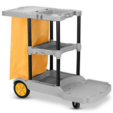 New Listinggymax Commercial Janitorial Cleaning Cart 3 Shelf Housekeeping Ultility Cart