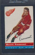 1954/55 Topps #027 Marcel Pronovost Red Wings Fair *37