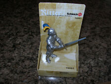 Schleich KNIGHT WITH BIG SWORD 70001 foot solder blue yellow silver Ritter NEW