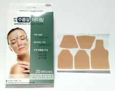 FACIAL ANTI WRINKLE REMOVER STRIPS TAPE EYE FOREHEAD BROW LAUGH LINES 20 PATCHES
