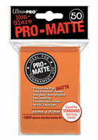 Ultra Pro Deck Protector Sleeves Matte Non Glare ORANGE Pokemon MTG 50 in Pack