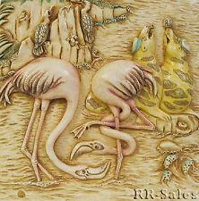 Flamingo East Harmony Kingdom Noahs Park Picturesque Tile Ann Richmond Carved Hk