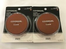 TWO Covergirl Clean Pressed Powder, 145 Warm Beige