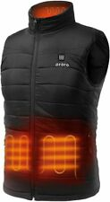 XL ORORO Mens Heated Vest With Battery Water Resistant Quilted Sleeveless Jacket
