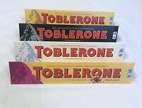 Toblerone Chocolate Giant 360g Bars Milk, Dark, White, Fruit & Nut Mix and Match
