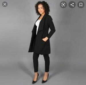 Betabrand Black Travel Suit NWT Jacket L Pants XL